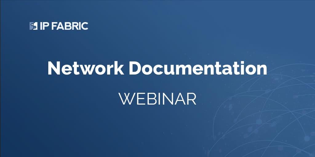 Webinar - Network Documentation